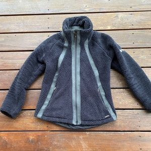 Kerrits equestrian riding jacket fleece black zip